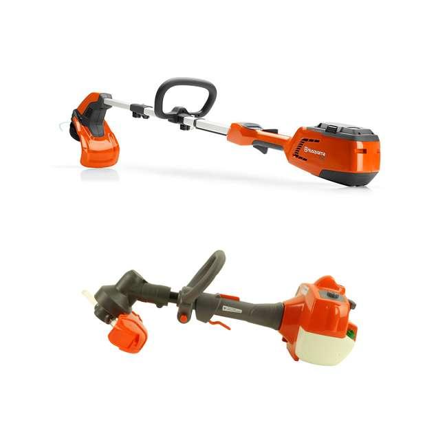 HV-TR-967098702 + HV-TOY-585729102 Husqvarna 115iL 36.5 Volt Straight Shaft String Trimmer and Toy Weed Trimmer