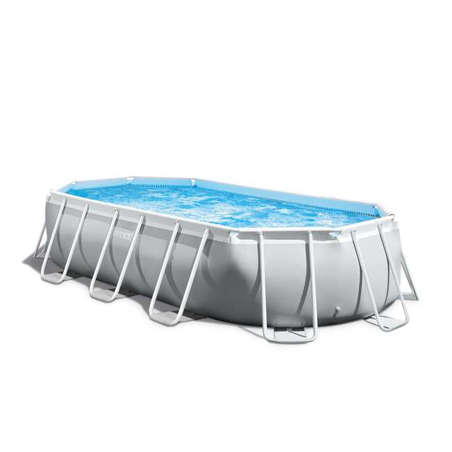 26795EH + 6 x 29000E Intex 16.5 Foot Rectangular Pool Set w/ Filter (6 Pack) 3