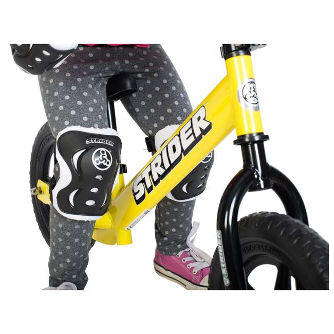 ST-S4WT + APADSET-SM Strider 12 Sport Balance Bike + Protection and Safety Elbow and Knee Pad Set 5