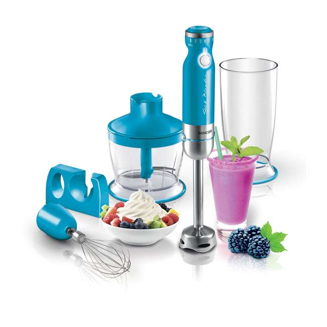 SHB4367TQ-NAA1 Sencor SHB4361BL-NAA1 350 Variable Speed Stainless Steel Hand Blender, Turquoise