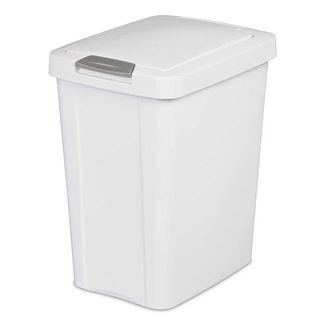 4 x 10438004 Sterilite 7.5 Gallon TouchTop Wastebasket with Titanium Latch, White (4 Pack) 1