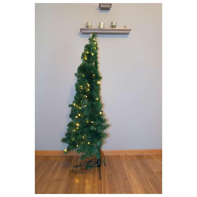 home heritage 5 foot pre lit flat back christmas tree