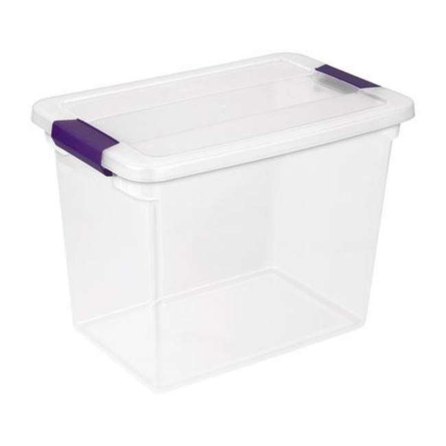 24 x 17631706-U-A Sterilite 27-Quart ClearView Latch Box Storage Tote Container - Single (24 Pack) 2