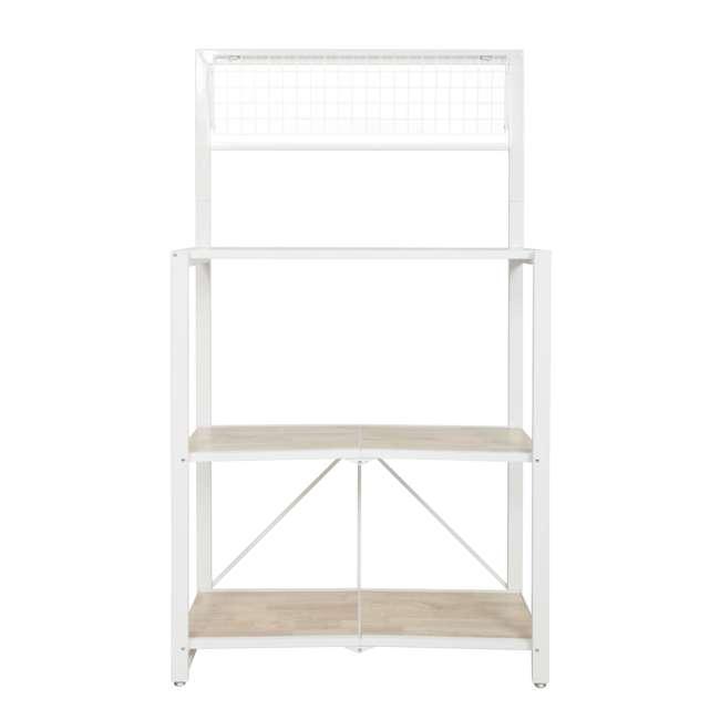 RGB-3M-WHI Origami Baker's Rack with MDF Shelf, White 2