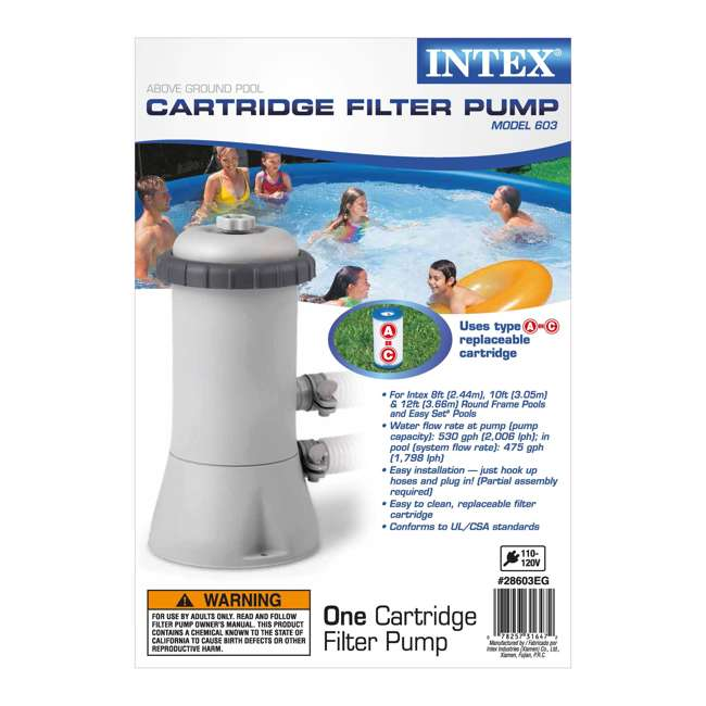 "28141EH-U-B Intex 13' x 32"" Easy Set Above Ground Swimming Pool & 530 GPH Filter Pump (Used)"