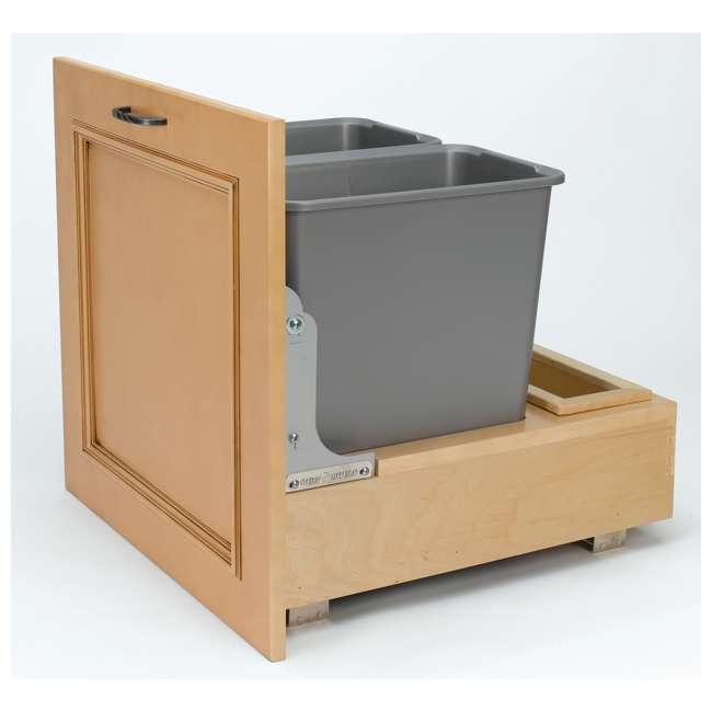 4WCBM-2430DM-2 Rev-A-Shelf 4WCBM-2430DM-2 Double 30 Quart Cabinet Pull Out Waste Containers 1