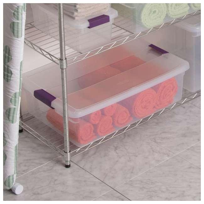 6 x 17551706 Sterilite 1751 6-Quart ClearView Latch Box Storage Tote (6 Pack) 3