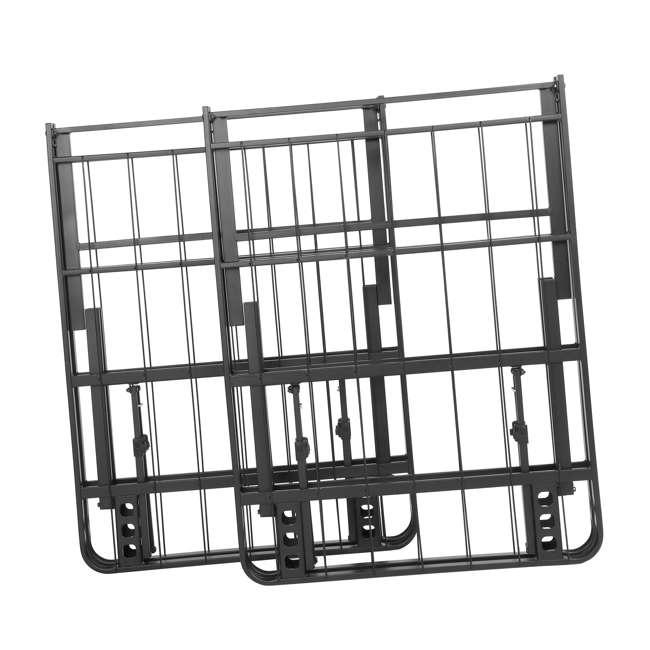 "VMI-18KIB2-112-U-B intelliBASE Easy Set Up BiFold Platform Black Bed Frame, King 18"" (Used) 3"
