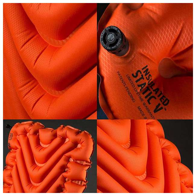 06IVOR01C Klymit Insulated Static V Sleeping Pad, Orange 4