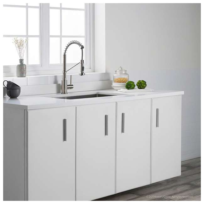 "KPF-1610SS-U-A Kraus Bolden 18"" Kitchen Faucet w/ Pull Down Sprayhead (Open Box) (2 Pack) 3"