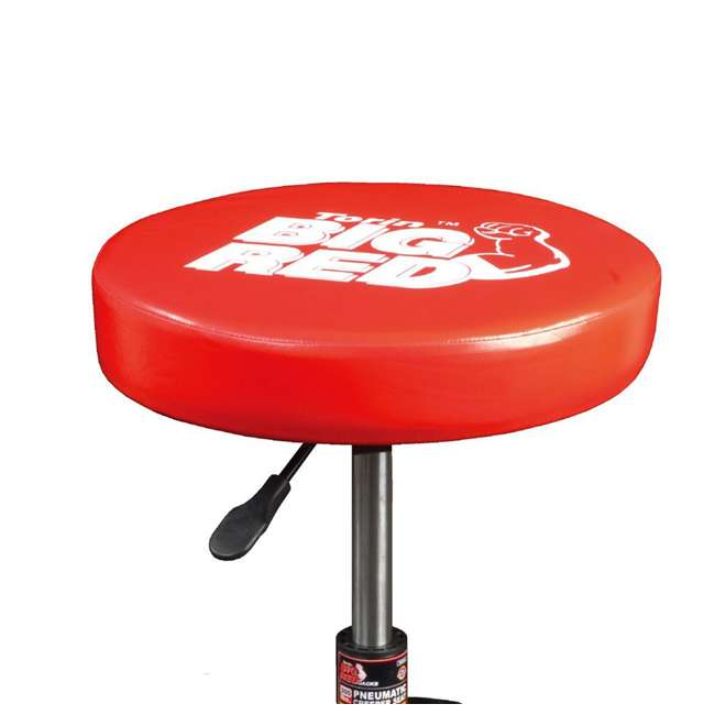 Torin Big Red Rolling Pneumatic Creeper Padded Stool Red