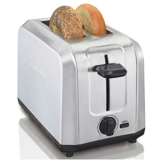 22910 Hamilton Beach 22910 Brushed Stainless Steel 2 Slice Countertop Toaster, Silver 1