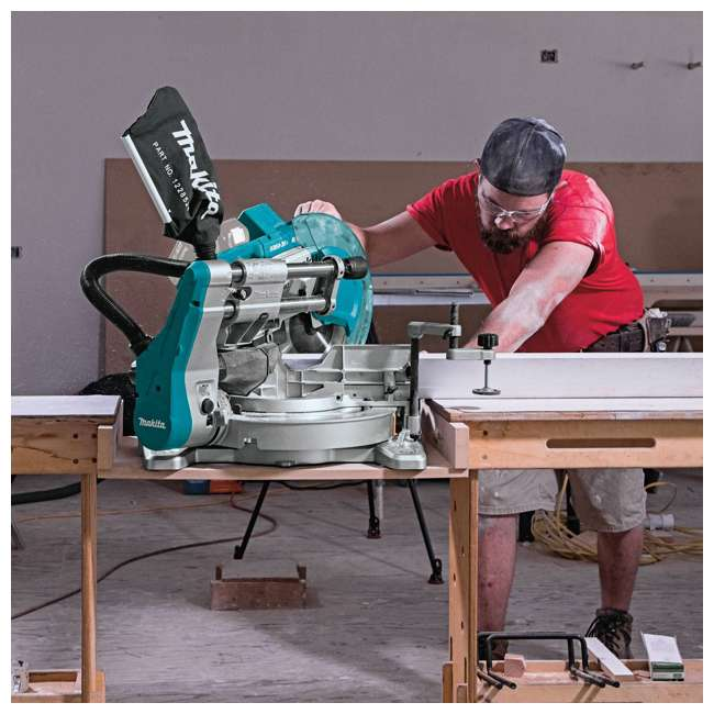 "XSL06Z-U-B Makita X2 LXT Brushless 10"" Dual Slide Compound Miter Saw, Tool Only (Used) 2"