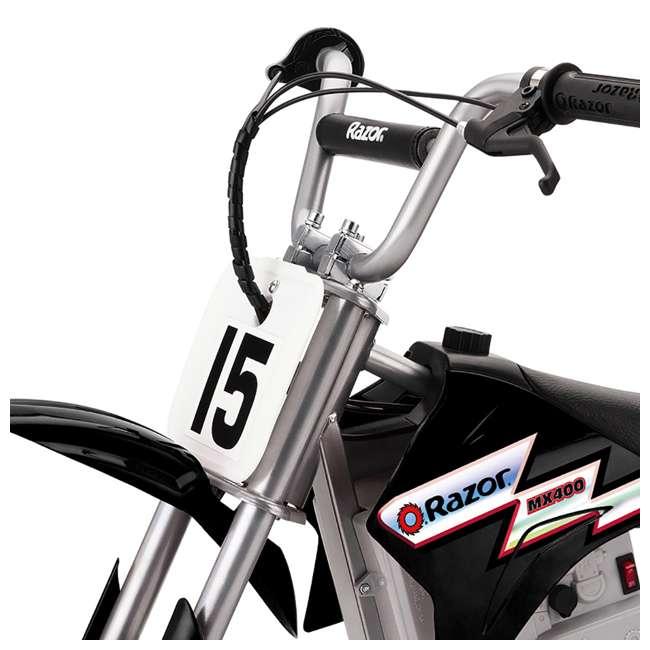 15128099 Razor MX400 Dirt Rocket Electric Motorcycle, Black 2