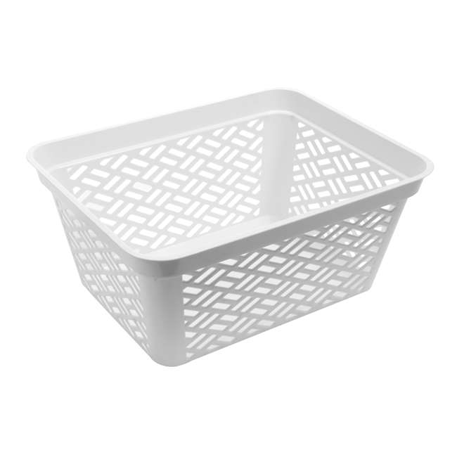 12 x FBA32138 Ezy Storage Large Decorative Plastic Brickor Shelf Pantry Basket Bin (12 Pack) 3