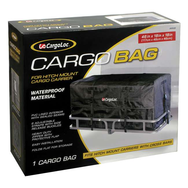 CARGO-32509 CargoLoc Cargo Bag for Car Rooftop Hitch Mount Carrier