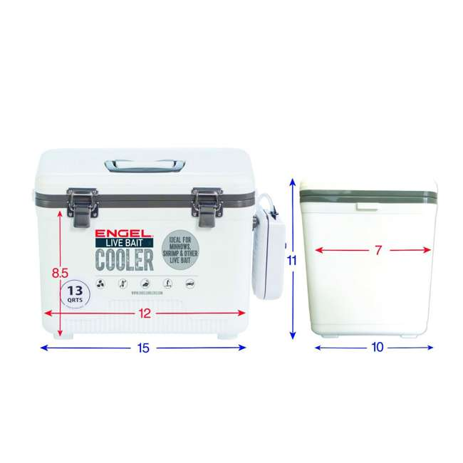 ENGLBC13-N-U-C Engel 13 Qt Hard Sided Live Bait Fishing Dry Cooler with Pull Net (For Parts) 2