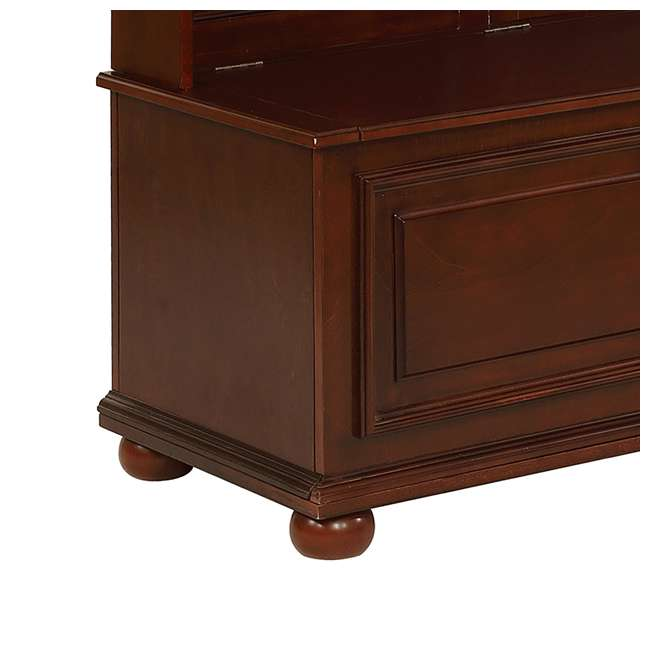PF-15A7058 Powell Furniture Chadwick Multi-Functional Hall Tree, Brown 3