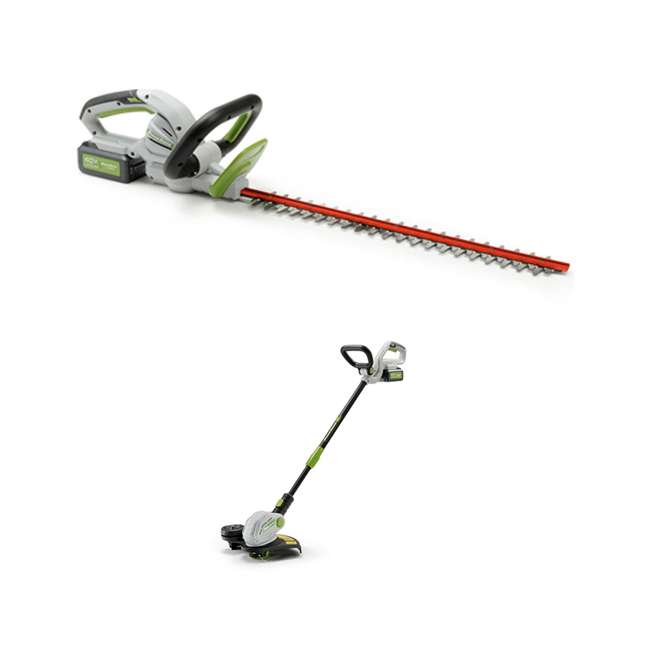 PHT140 + PGT140 PowerSmith 24 Inch Hedge Trimmer + String Trimmer and Edger