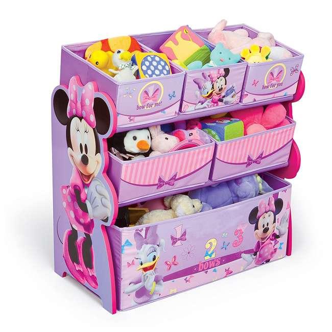 TB84848MN-999 Delta Children Minnie Mouse Wooden Multi Bin Toy Organizer, Pink (2 Pack) 2