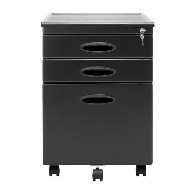4 x STDN-51100BOX Calico Designs Office Storage Mobile File Cabinet (4 Pack) 3