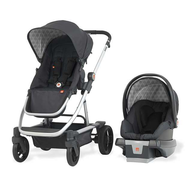 10AT2G-CHA4U GB Evoq 4 in 1 Infant Safe Car Seat Stroller Compact Travel System, Charcoal