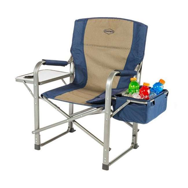 3 x CC118 Kamp-Rite Folding Director's Chair w/ Side Table & Cooler (3 Pack) 2