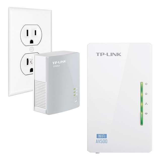 TPL-TL-WPA4220KIT TP-Link 300Mbps Wi-Fi Range Extender AV500 Powerline Starter Kit (2 Pack) 3
