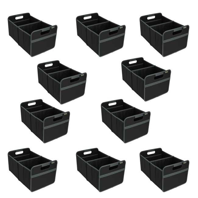 10 x A100001 Meori Classic 8-Gallon Large Storage Box, Lava Black (10 Pack)