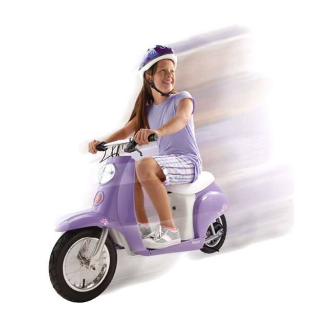 15130661 Razor Miniature Euro 24 Volt Electric Scooter and Kids Adjustable Scooter Helmet 6
