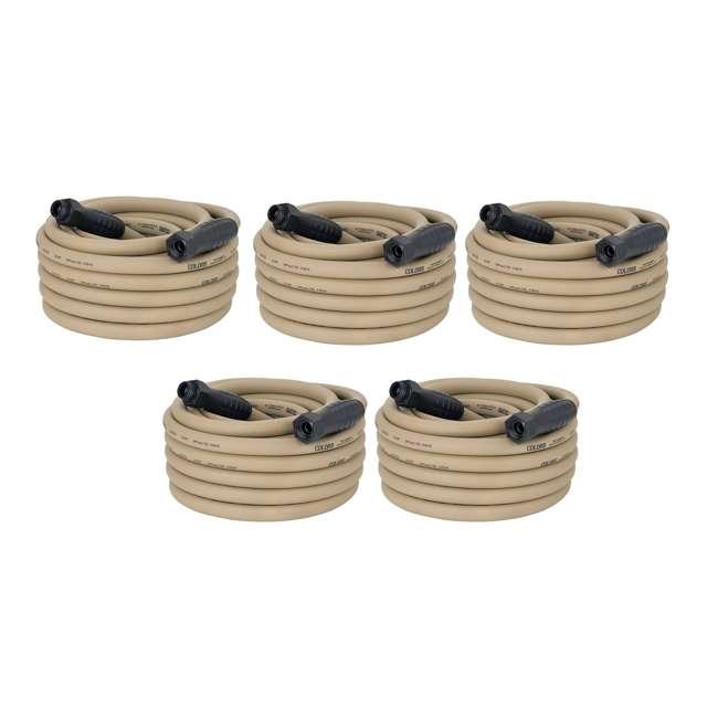 5 x LEG-HFZC550BRS Flezilla Colors 50' Garden Hose with SwivelGrip, Brown (5 Pack)