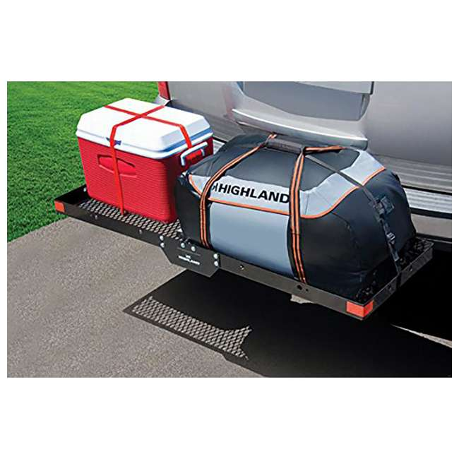 1042000 Highland 1042000 500 Pound Capacity Hitch Mounted Cargo Carrier Tray, Black 4
