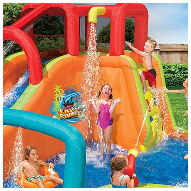 14000 Banzai Kids Inflatable Lazy River Adventure Water Park Slide and Pool (Open Box) 2