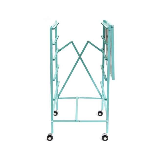 DFS-05-TURQ Origami Wheeled Foldable 5-Drawer Storage Cart, Turquoise  5