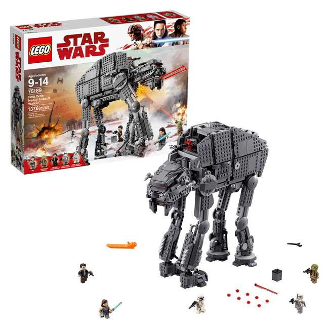 6224296 LEGO Star Wars First Order Heavy Assault Walker Building Kit with 5 Minifigures 1
