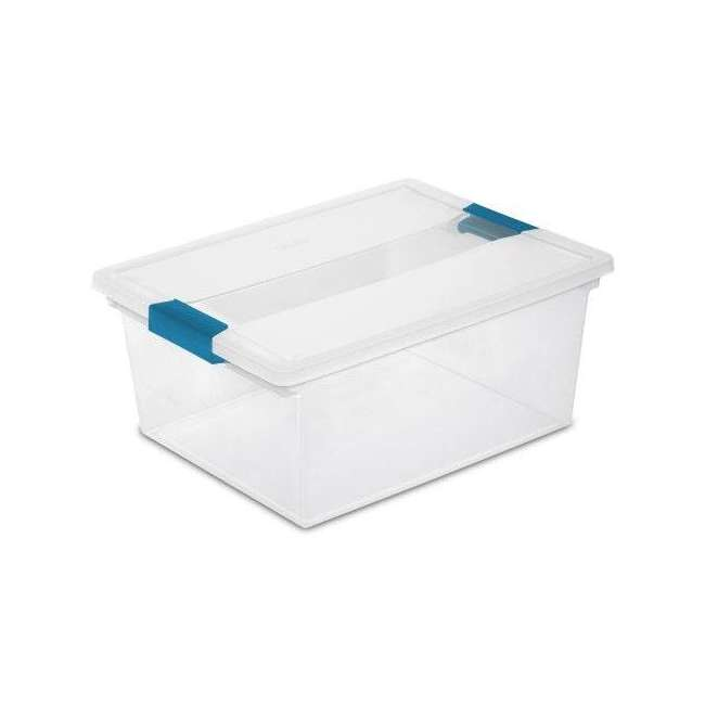 12 x 19658604-U-A Sterilite Deep File Clip Clear Storage Tote Container w/ Lid (Open Box)(12 Pack)