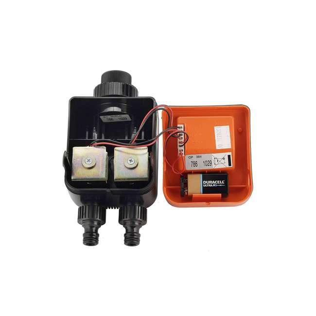 CLBR-8420 Claber 8420 Aquadue Duplo Evolution Dual-Outlet Digital Garden Plant Water Timer 2