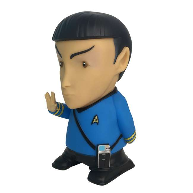 FT-SPK-U-B Fametek Star Trek Mr. Spock 6-Inch Wireless Bluetooth Speaker w/ 9 Quotes (Used) 1