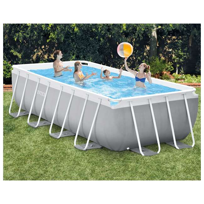 Intex 16 foot x 42 inch prism frame rectangle above ground for Intex pool handler