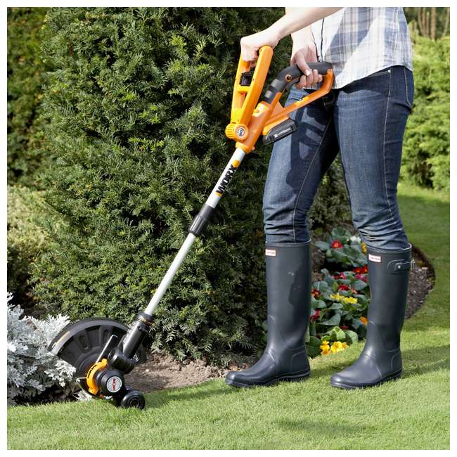 WG155 Worx WG155 20V Lithium-Ion Trimmer & Edger with Battery & Charger 4