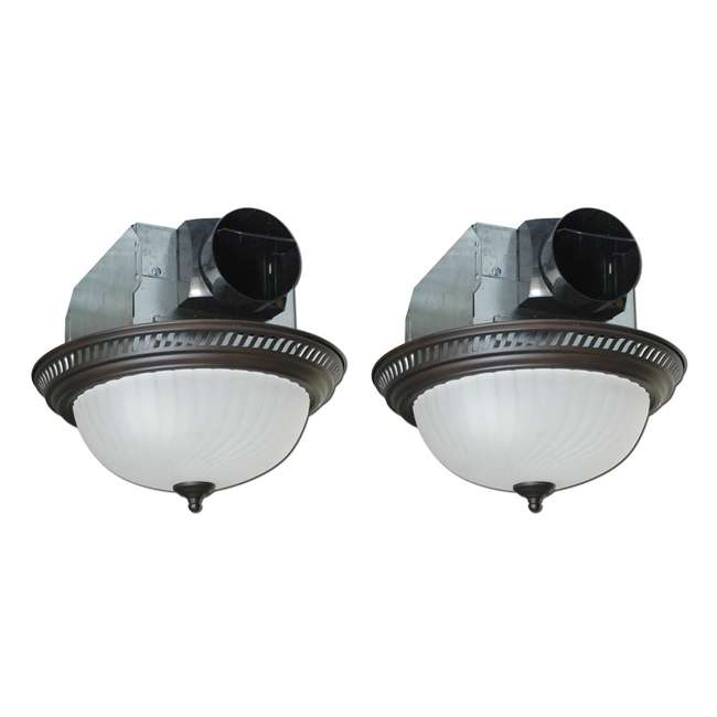 Round Bathroom Fan Light Combination: Air King Decorative Quiet Round Bathroom Fan With Light (2