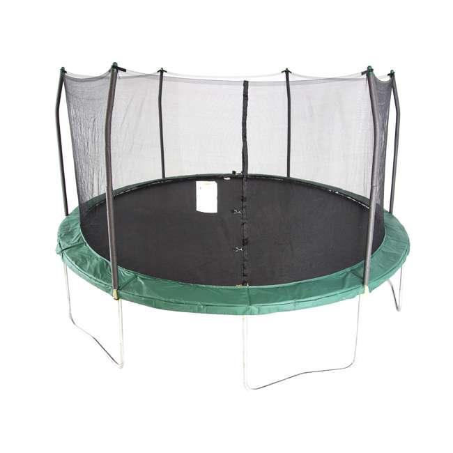 SWTC1511 Skywalker Trampolines 15 Foot Round Outdoor Trampoline & Safety Enclosure, Green