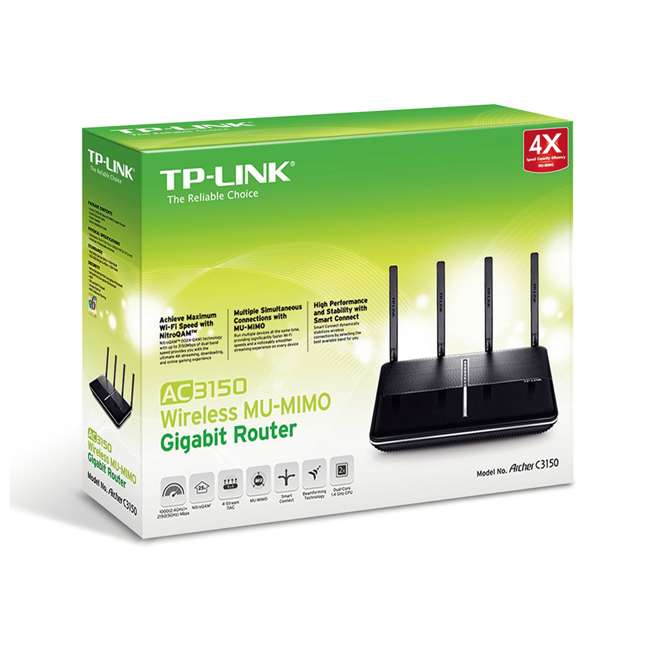 8 x TPL-ARCHERC3150 TP-Link AC3150 Wireless MU-MIMO Gigabit Router (8 Pack) 7