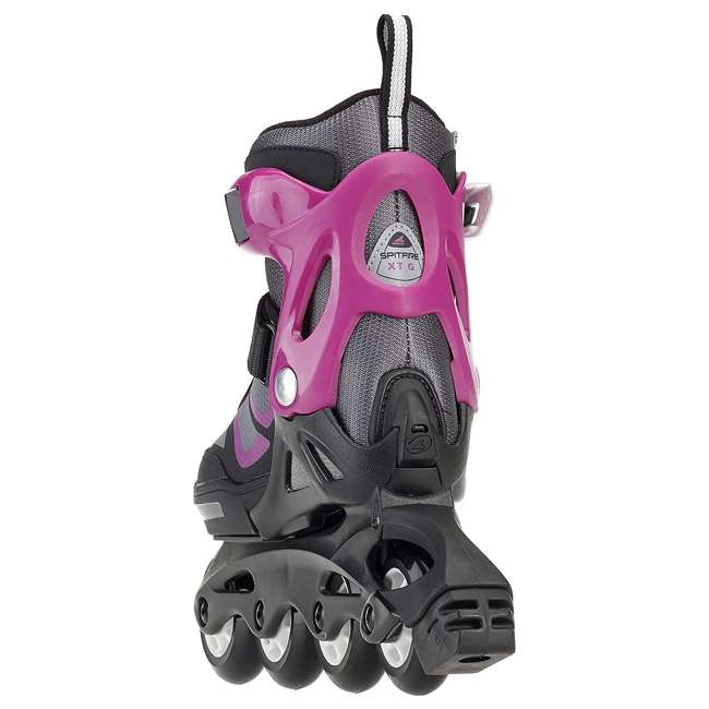 17849100N41-2-5 Rollerblade Spitfire XT Girls Adjustable Kids Inline Skates, Black and Pink 2