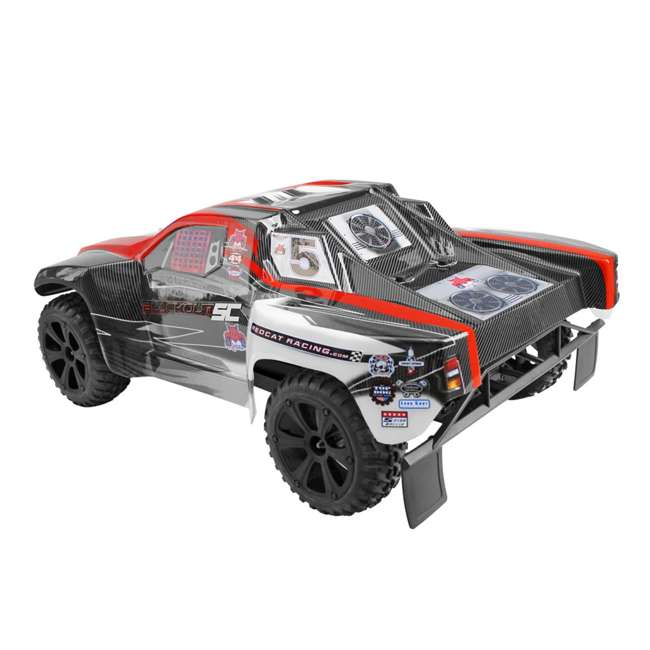 BLACKOUT-SC-RED Redcat Blackout SC Brushed Electric RC Short Course Truck 4