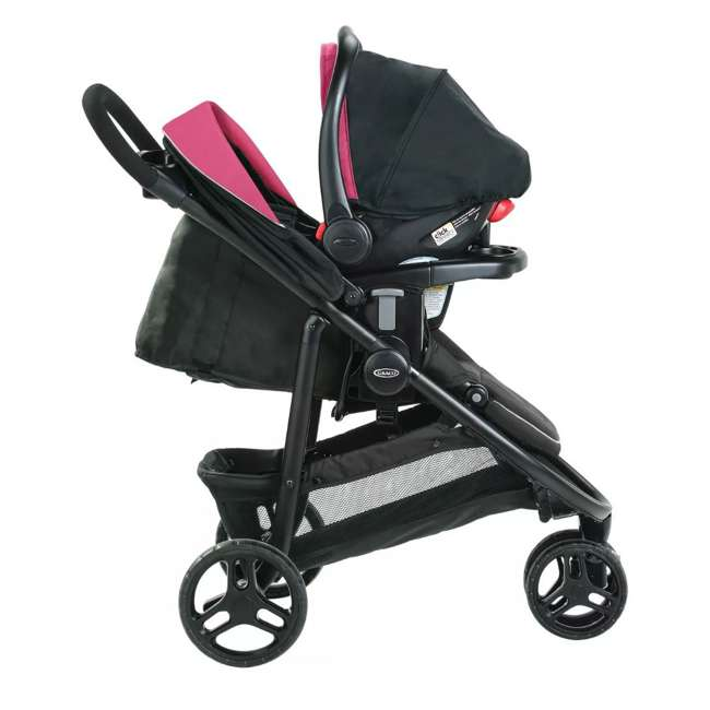 2081084 Graco Modes 3 Lite DLX Baby Stroller & Infant Car Seat Travel System, Arbis Pink 5