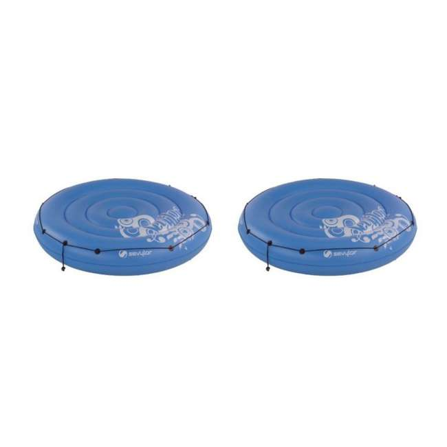 2000003316 (2) Sevylor 3316 Inflatable Floating Sun Island Pool Tubes with All-Around Grabline