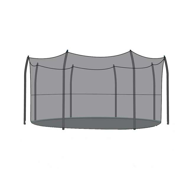 N1-1528100000-U-B SkyBound Net for 15 Ft Trampoline with 8 Straight-Curved Enclosure Poles (Used) 3