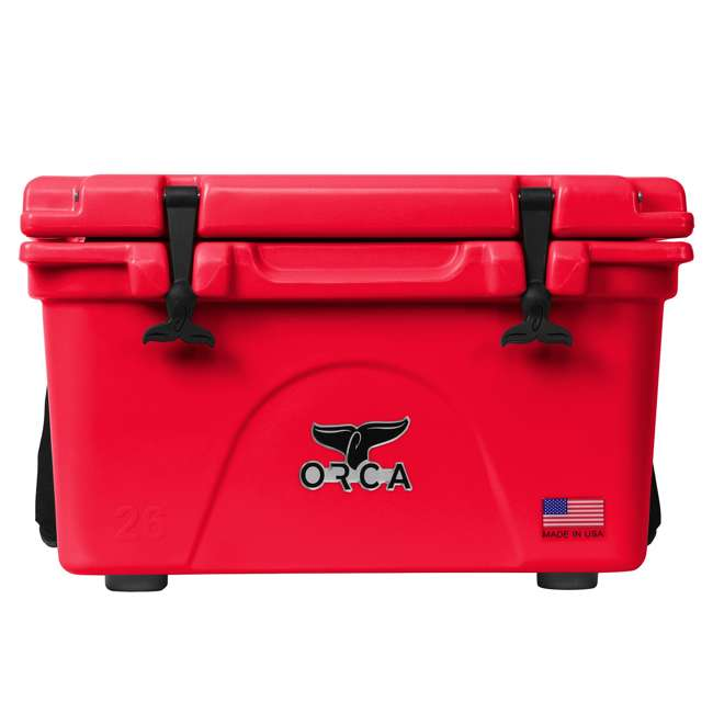 ORCRE/RE026 ORCA 26-Quart 6.5-Gallon Ice Cooler, Red 3