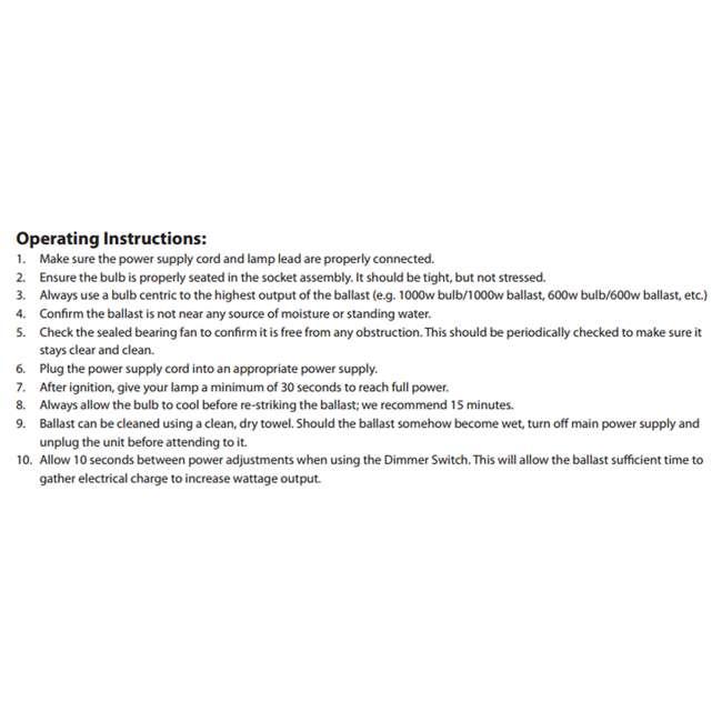 6 x QUANTUM-1000 Quantum 1000W Dimmable Digital Ballast (6 Pack) 3
